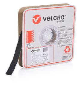 VELCRO BRAND 25MM PRESSURE SENSITIVE 0172 TAPE HOOK – BLACK 25MTR