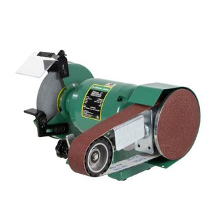 """ABBOTT & ASHBY 200MM (8"""") INDUSTRIAL BENCH GRINDER WITH 362 LINISHING ATTACHMENT"""