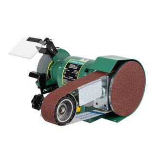 """ABBOTT & ASHBY 150MM (6"""") INDUSTRIAL BENCH GRINDER WITH 362 LINISHING ATTACHMENT"""