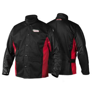 LINCOLN SHADOW SPLIT LEATHER SLEEVED JACKET