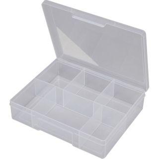 FISCHER 6 COMPARTMENT STORAGE BOX - CLEAR