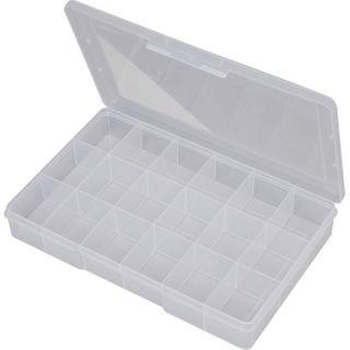 FISCHER 18 COMPARTMENT STORAGE BOX - CLEAR