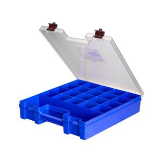 FISCHER EZI-PAK CARRY CASE - BLUE / CLEAR LID
