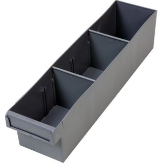 FISCHER 400MM MEDIUM PARTS TRAY WITH DIVIDERS – GREY