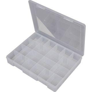 FISCHER 20 COMPARTMENT STORAGE BOX - CLEAR