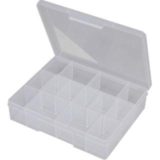 FISCHER 14 COMPARTMENT STORAGE BOX - CLEAR