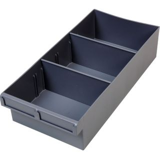 FISCHER 400MM LARGE PARTS TRAY WITH DIVIDERS – GREY