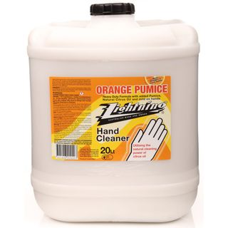 LIGHTNING ORANGE HAND CLEANER WITH PUMICE - 20L
