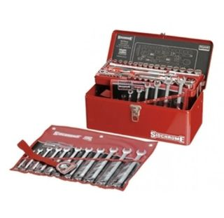SIDCHROME CANTILEVER TOOL BOX KIT METRIC / AF - 69PCE