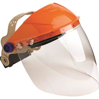 STRIKER BROWGUARD WITH CLEAR LENS VISOR