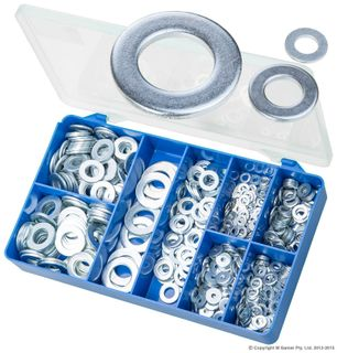 TORRES HAEVY DUTY ZINC PLATED FLAT WASHER ASSORTED KIT