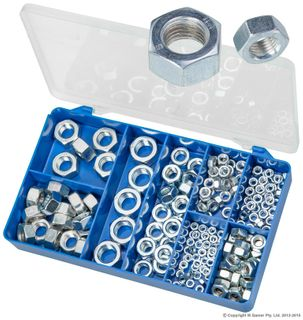 TORRES DIN 934 ZINC PLATED HEX NUTS ASSORTED KIT