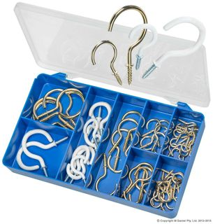 TORRES BRASS/PVC CUP HOOKS ASSORTED KIT