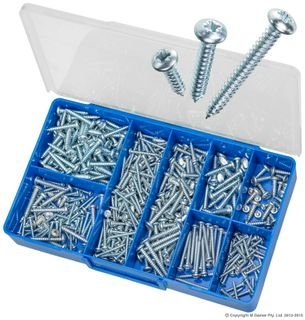 TORRES PAN SLOTTED SELF TAPPING SCREW ASSORTED KIT