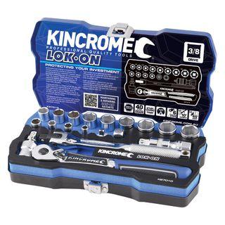 "KINCROME LOK-ON™ SOCKET SET 19 PIECE 3/8"" DRIVE - METRIC"