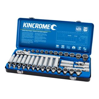 "KINCROME SOCKET SET 45 PIECE 1/2"" DRIVE - METRIC & IMPERIAL"