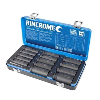 "KINCROME METRIC 1/2"" DRIVE DEEP IMPACT SOCKET SET - 14 PCE"