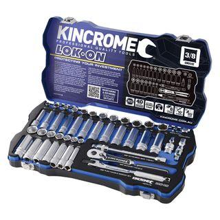 "KINCROME LOK-ON™ METRIC & IMPERIAL 3/8"" DRIVE SOCKET SET  - 45 PCE"