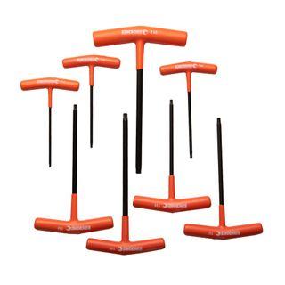 KINCROME T-HANDLE TAMPERPROOF TORX® HEX KEY SET - 8 PCE