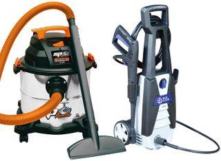 SP TOOLS WORKSHOP CLEAN UP PACKAGE - VACUUM/PRESSURE WASHER COMBO