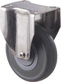 """FALLSHAW M SERIES 125MM (5"""") STAINLESS STEEL FIXED CASTOR - 150KG"""