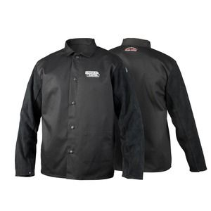 LINCOLN TRADITIONAL SPLIT LEATHER SLEEVED WELDING JACKET
