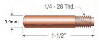 """PROFAX (TWECO STYLE) 0.9MM (.035"""") STANDARD CONTACT TIP"""