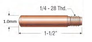 """PROFAX (TWECO STYLE) 1.0MM (.040"""") HEAVY DUTY CONTACT TIP"""