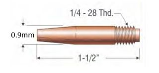 """PROFAX (TWECO STYLE) 0.9MM (.035"""") TAPERED CONTACT TIP"""