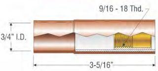 """PROFAX (TWECO STYLE) 19MM (3/4"""") SELF INSULATED NOZZLE - FLUSH"""