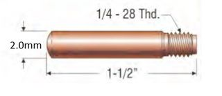 """PROFAX (TWECO STYLE) 2.0MM (5/64"""") HEAVY DUTY CONTACT TIP"""
