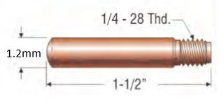 """PROFAX (TWECO STYLE) 1.2MM (.045"""") HEAVY DUTY CONTACT TIP"""