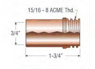 """PROFAX (TWECO STYLE) 19MM (3/4"""") NOZZLE - FIXED COARSE THREAD"""