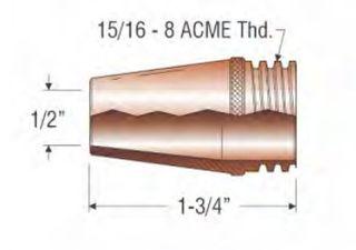 """PROFAX (TWECO STYLE) 12.5MM (1/2"""") NOZZLE - FIXED COARSE THREAD"""