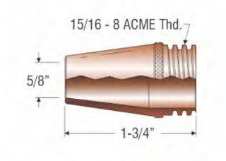 """PROFAX (TWECO STYLE) 16MM (5/8"""") NOZZLE - FIXED COARSE THREAD"""