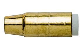 """BERNARD (STYLE) 14MM (9/16"""") TAPERED BRASS NOZZLE WITH INSULATOR"""