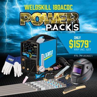 CIGWELD WELDSKILL 180 AC/DC TIG WELDER POWER PACK BUNDLE