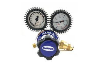 HARRIS MODEL 825 FLOW CONTROL ANTI-SUGRE SIDE INLET REGULATOR - 0 - 30LPM - ARGON/CO2