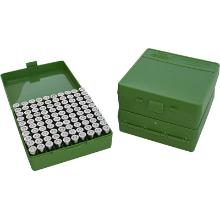 MTM 100RND HANDGUN AMMO BOX 38SPL 357MAG GREEN