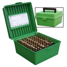 MTM 100RND DELUXE AMMO BOX 22-250 30-06 9.3X74R GREEN