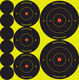 BIRCHWOOD CASEY TARGETS SHOOT N SEE TARGET SPOTS  MIX SMALL 12PKT