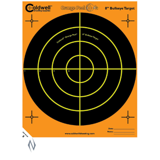 CALDWELL ORANGE PEEL BULLSEYE 8INCH 10PKT