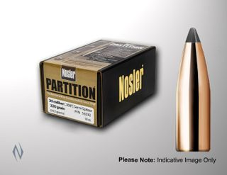 NOSLER 22CAL .224 60GR PARTITION PROJECTILES 50PK