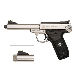 SMITH & WESSON M22 VICTORY 5.5INCH STAINLESS THREADED 22LR
