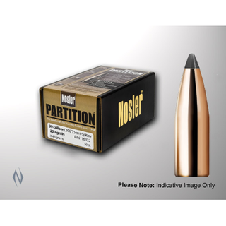 NOSLER 338CAL .338 225GR PARTITION PROJECTILES 25PK