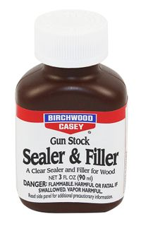 BIRCHWOOD CASEY GUN STOCK CLEAR SEALER & FILLER 3OZ