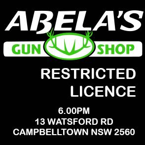 THURSDAY 26TH NOVEMBER 6.00PM R LICENCE ABELAS