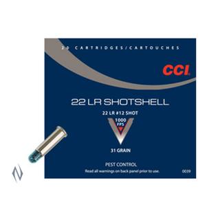 CCI SHOTSHELL 1000FPS 22LR 12SHOT 20PKT
