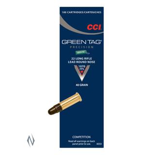 CCI GREEN TAG 1070FPS 22LR 40GR LRN 500PKT