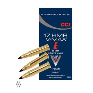 CCI 2550FPS 17HMR 17GR V-MAX 50PKT